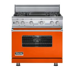 Brand: Viking, Model: VDSC536T4QAR, Color: Pumpkin
