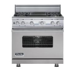 Brand: Viking, Model: VDSC536T4QAR, Color: Metallic Silver