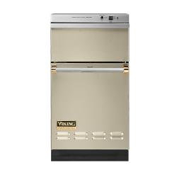 Brand: Viking, Model: VUC181VBBR, Color: Biscuit with Brass Accent