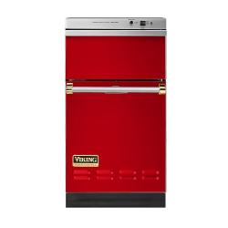 Brand: Viking, Model: VUC181VBBR, Color: Racing Red with Brass Accent