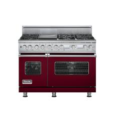 Brand: Viking, Model: VDSC548T6GSS, Fuel Type: Burgundy,  Natural Gas