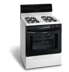 Brand: Frigidaire, Model: FGF337EW, Color: White/Black Accents