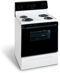Brand: Frigidaire, Model: FEF352FU, Color: White with Black Door