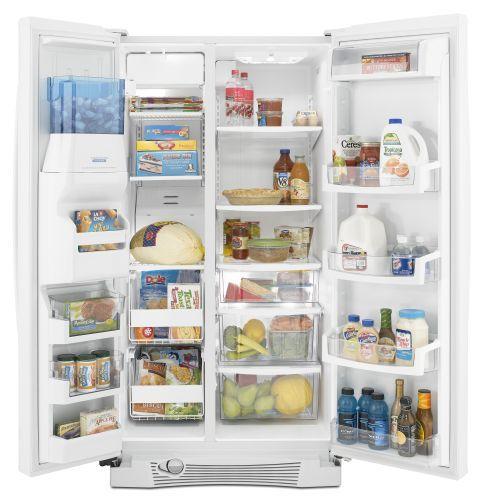 Whirlpool Gs5vhaxwa 25 6 Cu Ft Side By Side Refrigerator