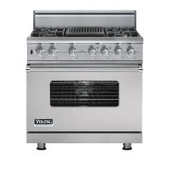 Brand: Viking, Model: VDSC5364QDJ, Fuel Type: Metallic Silver