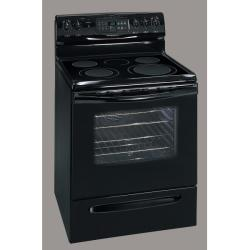 Brand: FRIGIDAIRE, Model: GLEF384GB, Color: Black on Black