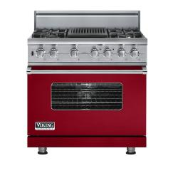 Brand: Viking, Model: VDSC5364QLE, Fuel Type: Apple Red, Natural Gas