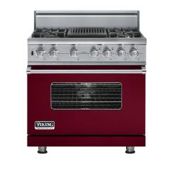 Brand: Viking, Model: VDSC5364QDJ, Fuel Type: Burgundy,  Natural Gas