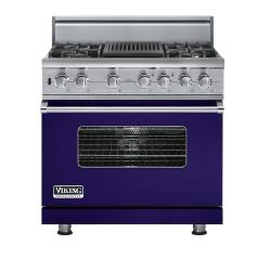 Brand: Viking, Model: VDSC5364QDJ, Fuel Type: Cobalt Blue, Natural Gas