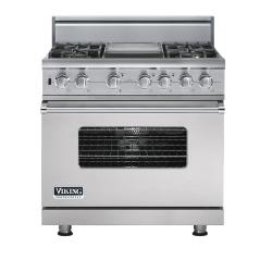 Brand: Viking, Model: VDSC5364GWHBR, Fuel Type: Metallic Silver