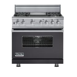 Brand: Viking, Model: VDSC5364GWHBR, Fuel Type: Graphite Gray - Natural Gas