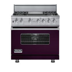 Brand: Viking, Model: VDSC5364GWHBR, Fuel Type: Plum