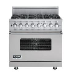 Brand: Viking, Model: VDSC5366BLE, Fuel Type: Metallic Silver