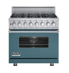 Brand: Viking, Model: VDSC5366BSGLP, Fuel Type: Iridescent Blue