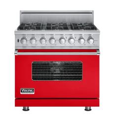 Brand: Viking, Model: VDSC5366BSGLP, Fuel Type: Racing Red