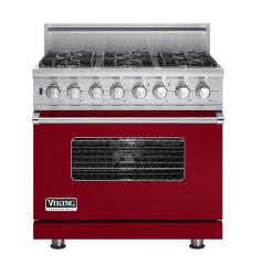 Brand: Viking, Model: VDSC5366BLE, Fuel Type: Apple Red, Natural Gas