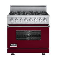 Brand: Viking, Model: VDSC5366BSGLP, Fuel Type: Burgundy,  Natural Gas