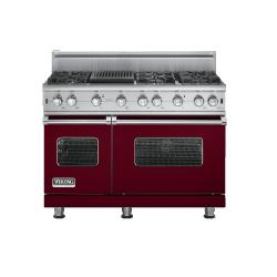 Brand: Viking, Model: VGCC5486QX, Fuel Type: Burgundy - Natural Gas
