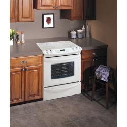 Brand: FRIGIDAIRE, Model: GLES389EB, Color: White on White