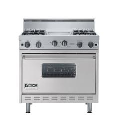 Brand: Viking, Model: VGIC3664QRR, Color: Metallic Silver