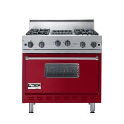 Brand: Viking, Model: VGIC3664QRR, Color: Apple Red