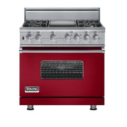 Brand: Viking, Model: VGSC5364GGGLP, Fuel Type: Apple Red - Natural Gas