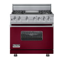 Brand: Viking, Model: VGSC5364GGGLP, Fuel Type: Burgundy - Natural Gas