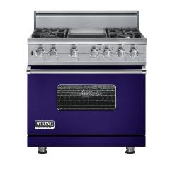 Brand: Viking, Model: VGSC5364GVBLP, Fuel Type: Cobalt Blue - Natural Gas