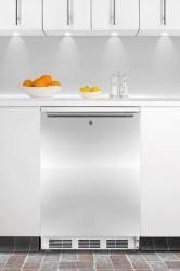 Brand: SUMMIT, Model: FF6LBIIF, Color: Stainless Door with Horizontal Thin Handle