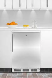 Brand: SUMMIT, Model: FF6LBIIF, Color: Stainless Door with Vertical Thin Handle