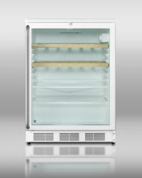 Brand: SUMMIT, Model: SCR600LTB, Color: Stainless Handle with Wooden Wine Shelves