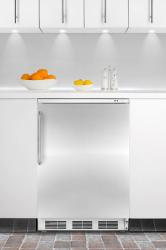 Brand: SUMMIT, Model: FS62BISSHV, Color: Stainless Door with Pro Handle