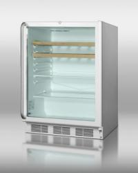 Brand: SUMMIT, Model: SCR600LCSSRC, Style: Stainless Cabinet/Handle with Wine Shelves