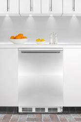 Brand: SUMMIT, Model: FF6BIFR, Color: Stainless Door with Horizontal Thin Handle