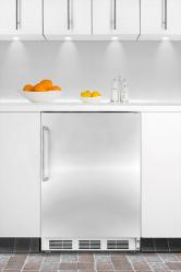 Brand: SUMMIT, Model: FF6BISSTB, Color: Stainless Door with Towel Bar