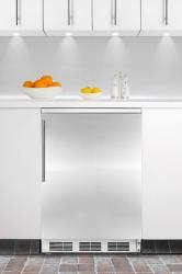 Brand: SUMMIT, Model: FF6BIFR, Color: Stainless Door with Vertical Thin Handle