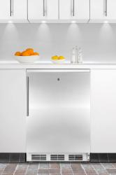 Brand: SUMMIT, Model: FF7LPUBBI, Color: Stainless Door with Vertical Thin Handle