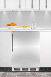 Brand: SUMMIT, Model: AL650BISSHV, Color: Stainless Door with Vertical Thin Handle