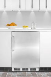 Brand: SUMMIT, Model: AL650BISSTB, Color: Stainless Cabinet with Pro Handle