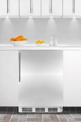 Brand: SUMMIT, Model: ALB751CSS, Color: Stainless Door with Vertical Thin Handle