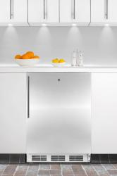 Brand: SUMMIT, Model: ALB651LSSHV, Color: Stainless Door with Vertical Thin Handle