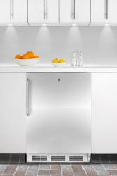 Brand: SUMMIT, Model: FF6L7BISSTB, Color: Stainless Cabinet with Pro Handle