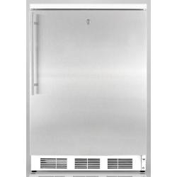 Brand: SUMMIT, Model: FS62LADAFR, Color: Stainless Door with Vertical Thin Handle