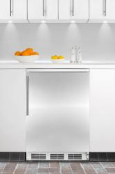 Brand: SUMMIT, Model: FF67BIFR, Style: Stainless Door with Vertical Thin Handle