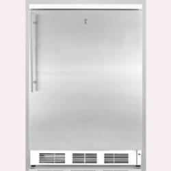 Brand: SUMMIT, Model: FS62LCSS, Color: Stainless Door with Vertical Thin Handle