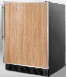 Brand: SUMMIT, Model: SCFF55LBLADASSHH, Color: Stainless Steel Frame (Requires Panel)