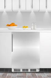 Brand: SUMMIT, Model: ALFB621CSS, Color: Stainless Door with Vertical Thin Handle