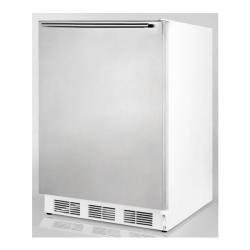 Brand: SUMMIT, Model: SCFF55LADASSHV, Color: Stainless Door with Horizontal Thin Handle