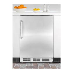 Brand: SUMMIT, Model: SCFF55LADAIF, Color: Stainless Door with Pro Handle