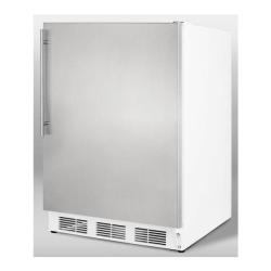 Brand: SUMMIT, Model: SCFF55LADASSHV, Color: Stainless Door with Vertical Thin Handle